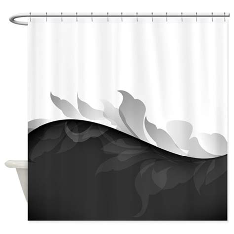 black white shower curtains elegant black and white shower curtain by bestshowercurtains