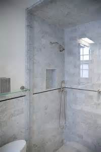 Shower Bath Enclosure master bathroom in carrara marble complete tile