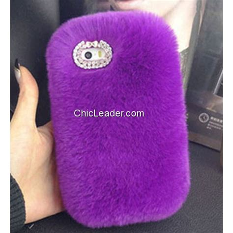 Softcase Rabbit Fur Series Iphone 6 6s 1 bling rhinestone fluffy rex rabbit fur soft for iphone 6 6s 4 7 inch chicleader