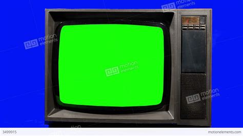 green tv old television turning channels green screen stock video footage 3499915