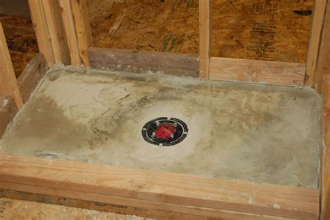 Setting Shower Base In Mortar by How To Build A Tile Shower Pan Icreatables
