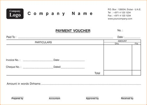 7 voucher templates word excel pdf templates