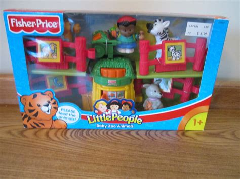 fisher price  people  box baby zoo animals feed food petting fence cart ebay