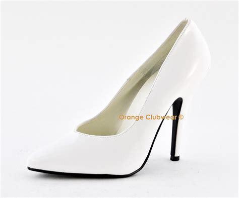 classic high heel pumps pleaser 420v 5 quot high heel pumps s white