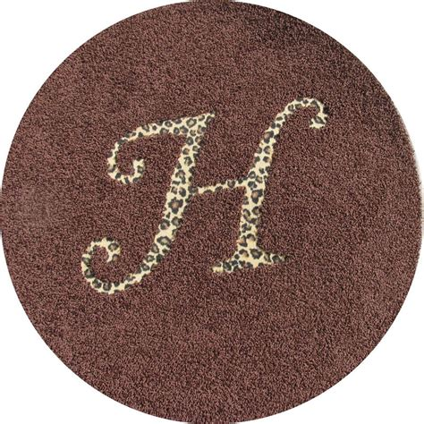 monogram rug district17 solid rug with animal print monogram personalized items oval rugs