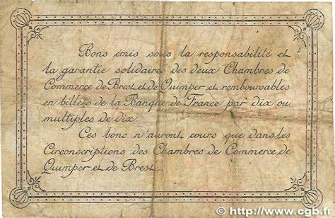 Chambre De Commerce Quimper by 2 Francs R 233 Gionalisme Et Divers Quimper Et Brest