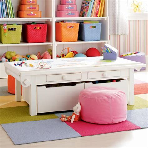 Land Of Nod Table white adjustable activity table the land of nod
