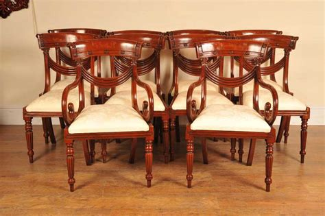 Regency Mahogany Dining Chairs 8 Mahogany Regency Dining Chairs Arm Chair