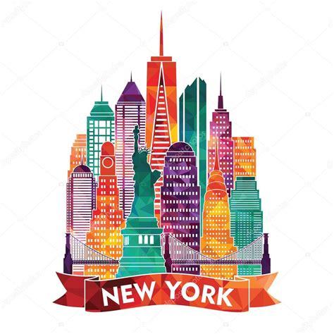 art design kalender new york new york city illustration stock vector