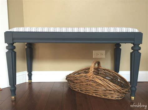 reupholstered piano bench