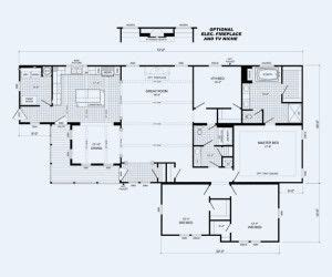 4 Bedroom 3 Bath Floor Plans Cavalier Homes Multisection Plan The Mcgarrity Available
