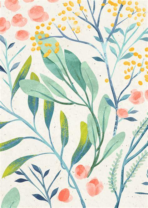pattern illustration tumblr flyleaf florals vol ii on behance