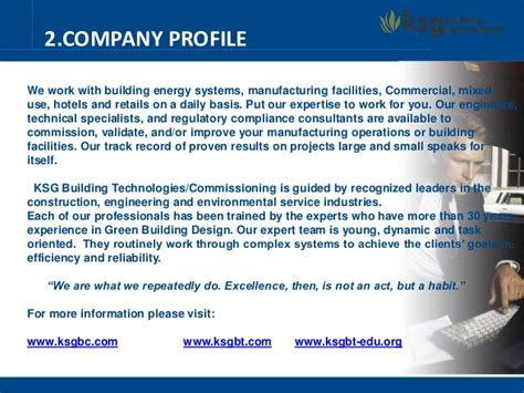 company profile ksg building technologies