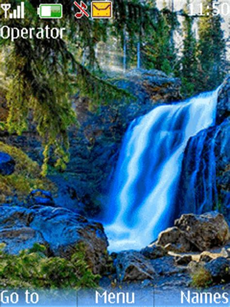 nature themes with ringtone download water fall nature theme nokia theme mobile toones
