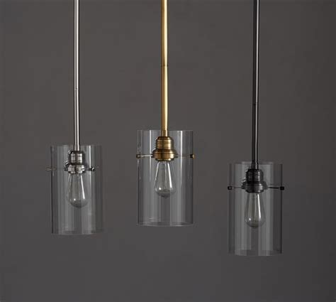 roost glass cylinder pendant contemporary dining room modern cylinder pendant pottery barn