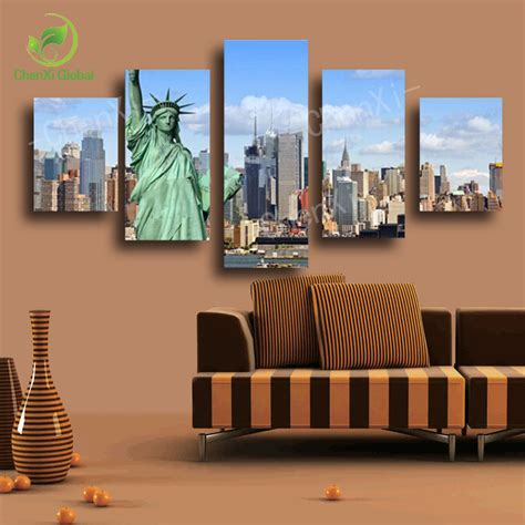 canvas print without frame 2015 s without frame 5 panels picture new york city hd