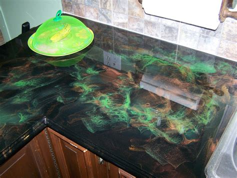 Epoxy Kitchen Countertops Stunning Epoxy Resin Kitchen Countertops And Install Countertop In Your Gallery Picture