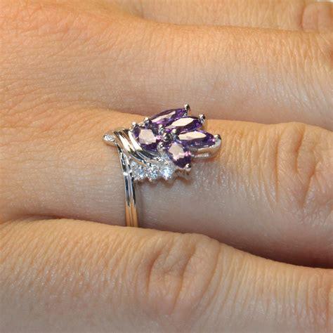 purple flower ring beautiful promise rings
