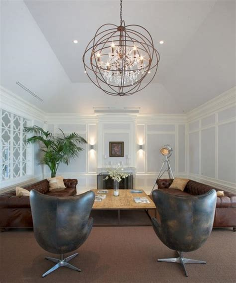 High Ceiling Living Room Chandelier 10 Fascinating High Ceiling Living Rooms With Chandelier