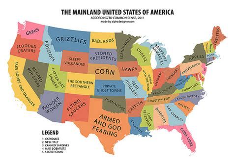 us map guess states the mainland united states of america according to common
