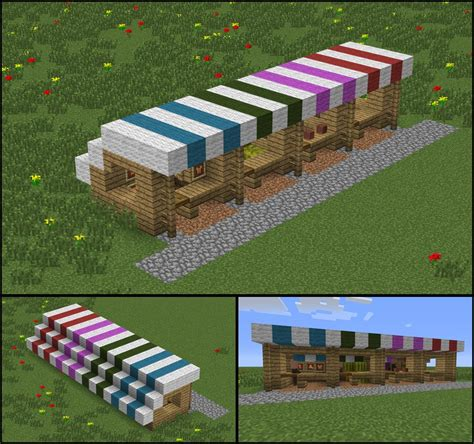 how to build a shop my growing town needed some market stalls minecraft