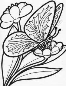 Coloring pictures of flowers and butterflies beautiful flowers