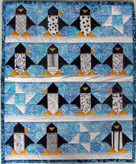 Penguin Quilt Pattern by Peck S Pieces Another Stud Completed And A
