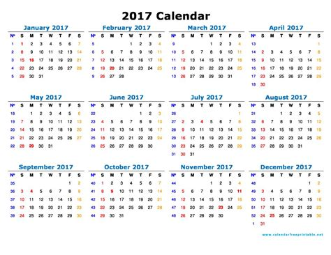 printable calendar to write on 2017 2017 calendar printable with holidays calendar free