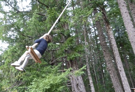 giant rope swing a unique stay with the kids in an oregon tree house