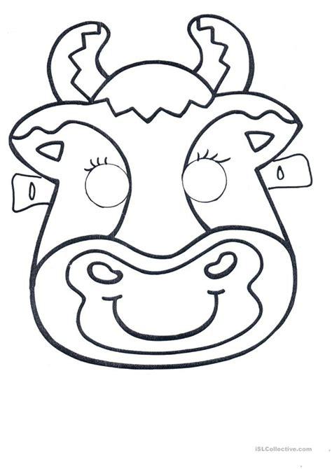 printable mask farm animals masks of farm animals worksheet free esl printable