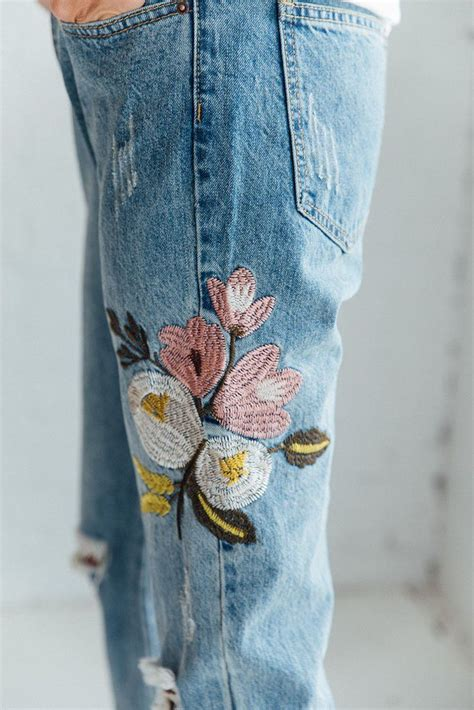 Patches Denim Size Sml details distressed jean with embroidered detailing from zara s basic denim line run