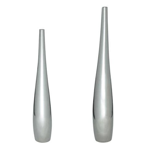maison du monde vasi 2 vases en c 233 ramique argent h 83 cm et h 115 cm marley