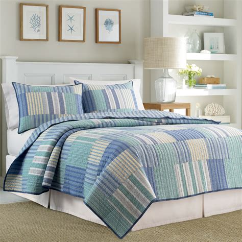 bedding quilts nautica belle isle quilt from beddingstyle com