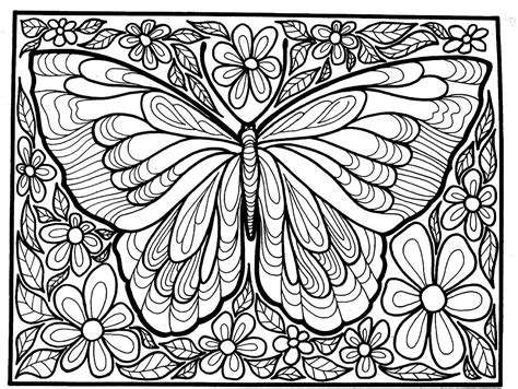 butterflies coloring book for adults books to print this free coloring page 171 coloring difficult