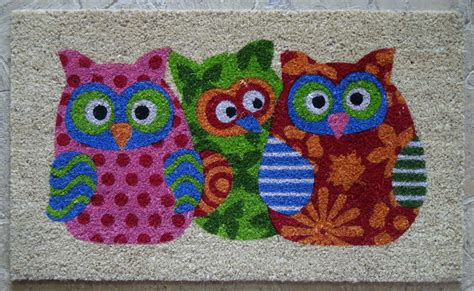 Patchwork Owl - patchwork owl doormat at mighty ape australia
