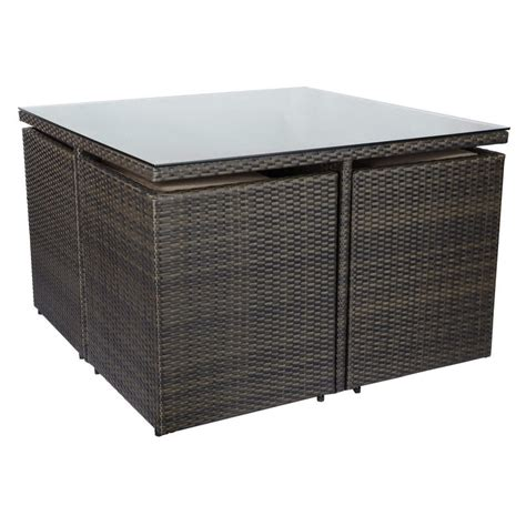 Rattan Foot Stool by 9 Brown Rattan Wicker Cube Table Chair Footstool