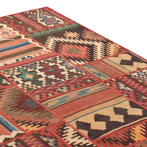 6 6 Quot X 10 Kilim Patchwork Area Rug High Quality Persian 6 X 6 Area Rugs