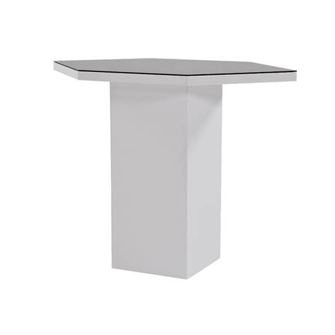 Corner Bar Table Nostran White Corner Bar W Table El Dorado Furniture