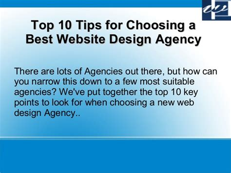 top 10 tips for choosing a best website design company