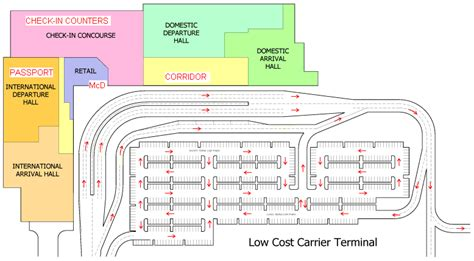 klia airport floor plan lcct low cost carrier terminal kuala lumpur malaysia