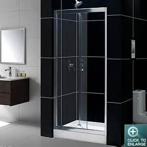 bi fold glass shower door frameless bi fold shower door butterfly by dreamline frameless