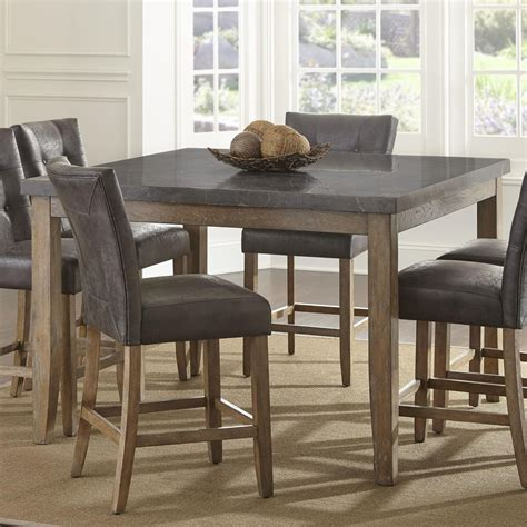 steve silver dining table steve silver debby transitional square counter height
