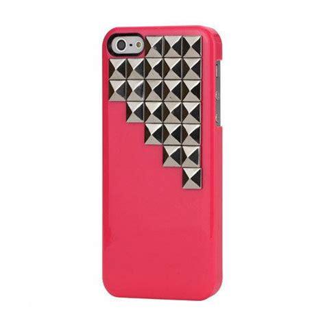 Hardcase Iphone 5 Merk Huanmin bol iphone 5 hoesje met studs roze