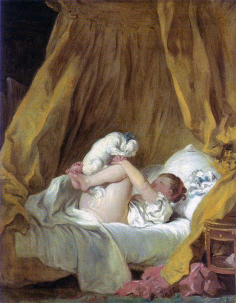 Girl With A Dog C Jean Honore Fragonard Wikiart Org