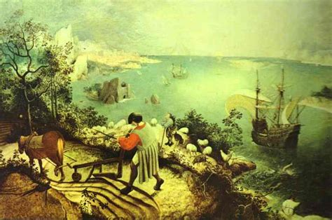 Landscape Of The Fall Of Icarus Landscape With The Fall Of Icarus Pieter Bruegel The Elder