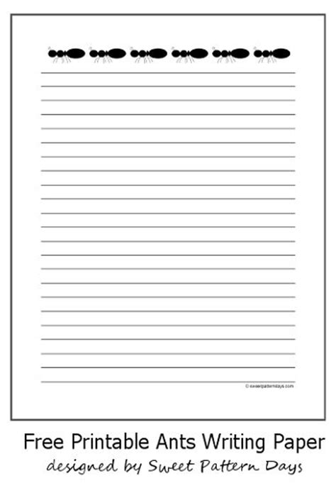 ant writing paper free printable ants writing paper stationery