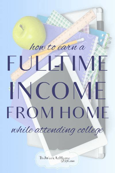 how to make a time income from home while attending