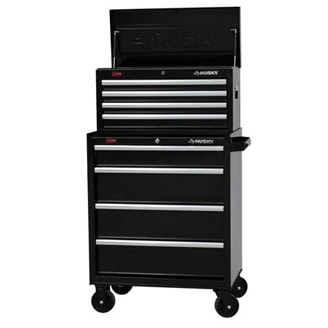 husky 27 in w 8 drawer tool chest and cabinet set h4ch1
