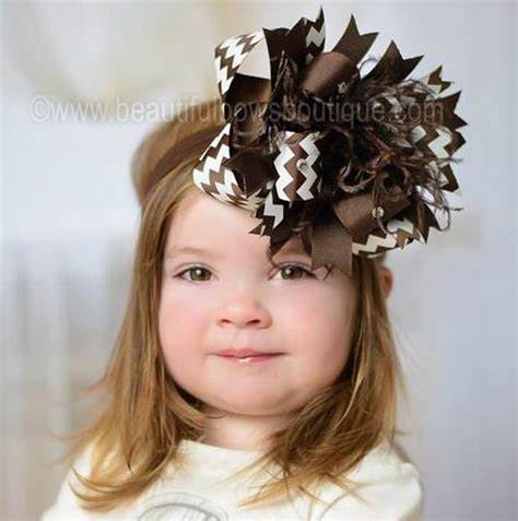 buy fall brown chevron stripes hair bow baby headband at beautiful bows boutique