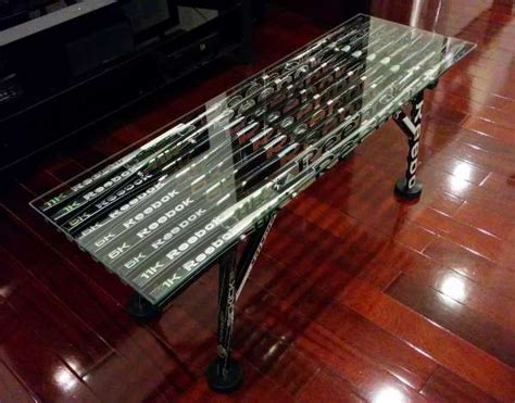 hockey stick coffee table coffee table glass top hockey stick builds
